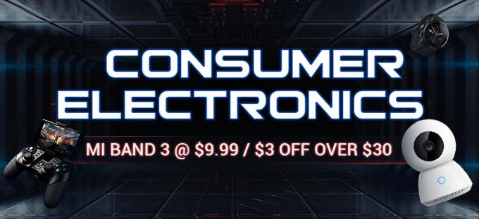 BlackWeekend Gearbest Gutschein für Consumer Electronics, z.B. Mi Band 3